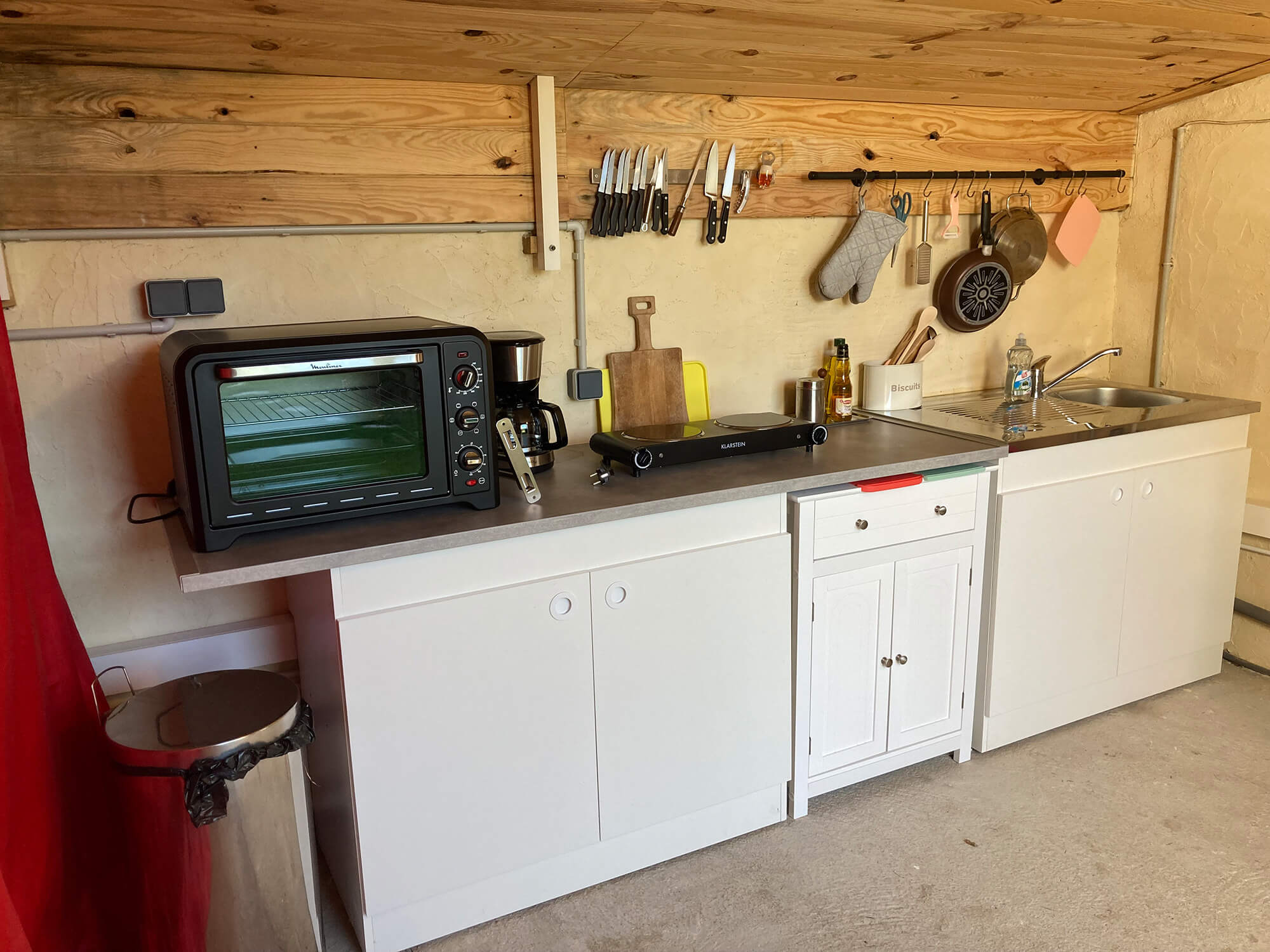 Summer kitchen only for guests