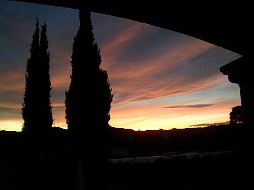Provence Sonnenuntergang